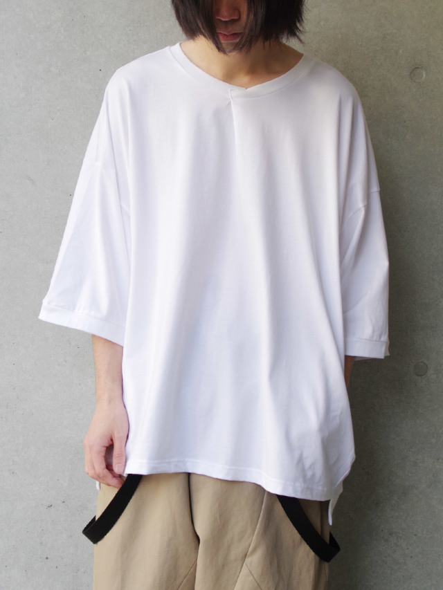 "【2021 HIGH SUMMER】 my beautiful landlet (マイビューティフルランドレット)  ""cotton BIG T-shirt"" <カットソー> - WHITE"