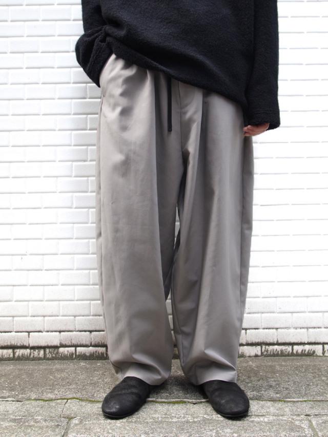 "【20AW】 my beautiful landlet (マイビューティフルランドレット)  ""DOUBLE CLOTH WIDE EASY PANTS"" <パンツ> - GRAY"