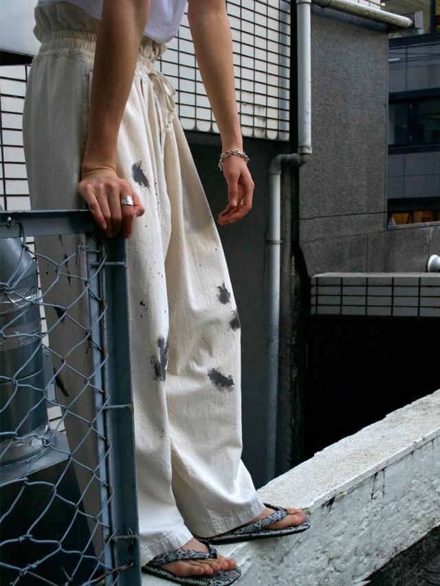 """【21SS】 my beautiful landlet (マイビューティフルランドレット)  """"8oz DENIM WIDE EASY PANTS"""" <デニムイージーパンツ> - KINARI"""