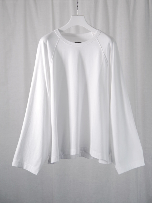 """my beautiful landlet """"BASIC CUT AND SEW RINGER L/S TEE"""" - WHITE"""