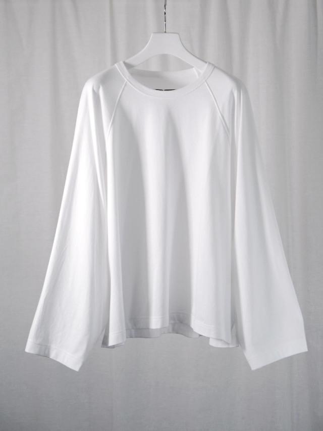 "【21SS】 my beautiful landlet (マイビューティフルランドレット)  ""BASIC CUT AND SEW RINGER L/S TEE"" <カットソー Tシャツ> - WHITE"