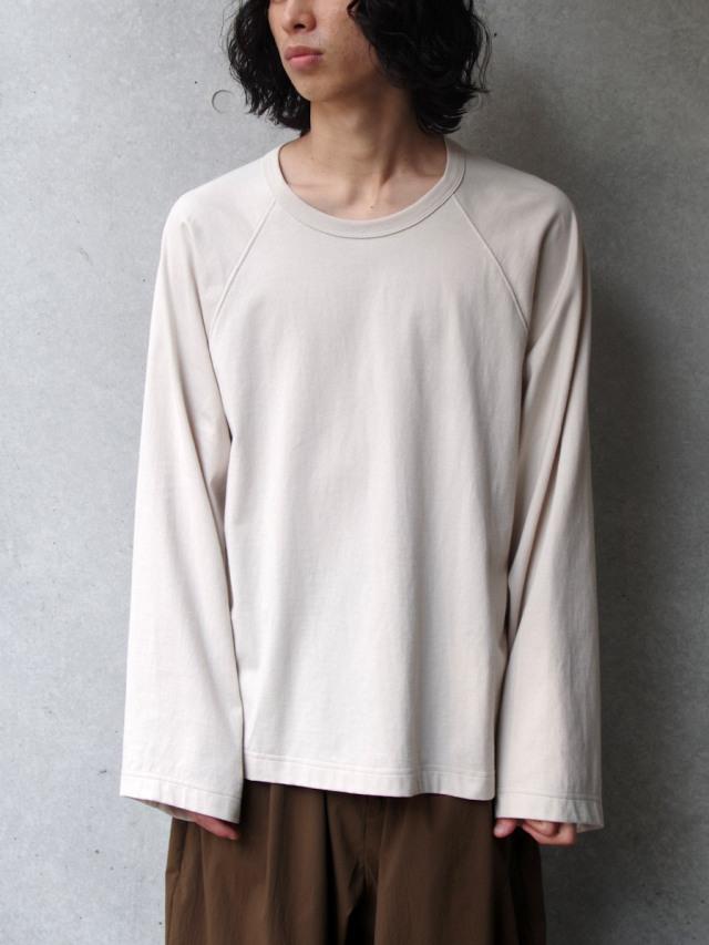 "【21SS】 my beautiful landlet (マイビューティフルランドレット)  ""BASIC CUT AND SEW RINGER L/S TEE"" <カットソー Tシャツ> - BEIGE"