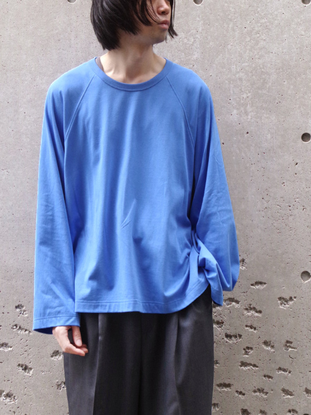"""my beautiful landlet """"BASIC CUT AND SEW RINGER L/S TEE"""" - BLUE"""