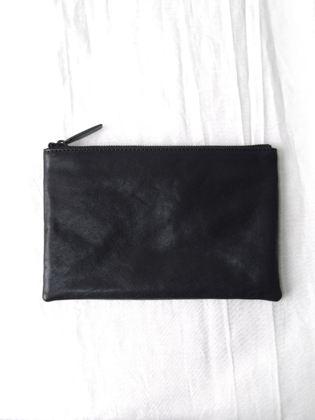 """PATRICK STEPHAN (パトリックステファン) """"Leather pouch S 20"""" #203ABG03 <ポーチ 財布 バッグ> - BLACK"""