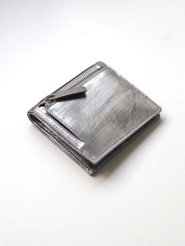 "PATRICK STEPHAN (パトリックステファン) ""Leather minimal wallet"" #182AWA06 <財布> - SCRATCH SILVER"