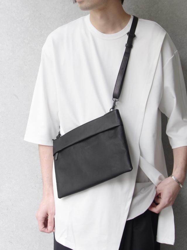 """PATRICK STEPHAN (パトリックステファン) """"Leather shoulder bag 'grande poche' sacoche"""" #174ABG14 <サコッシュバッグ>"""