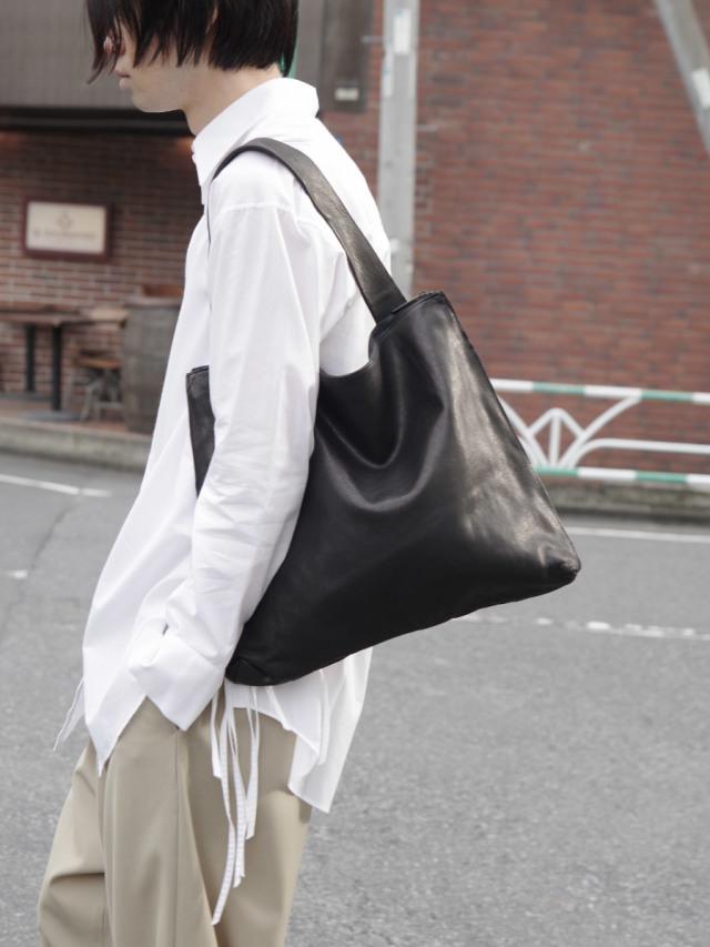 """PATRICK STEPHAN (パトリックステファン) """"Leather shoulder bag 'simple' 2"""" #183ABG14 <トートバッグ>"""