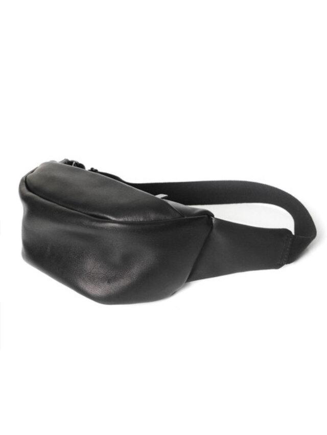 "PATRICK STEPHAN (パトリックステファン) ""Leather small waist bag 'demi circle'"" #194ABG03 <ボディバッグ/サコッシュバッグ>"
