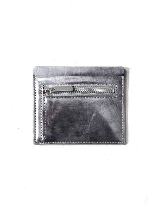 """PATRICK STEPHAN (パトリックステファン) """"Card & coin case fragment"""" #213AAO03 <カードケース コインケース> - SCRATCH SILVER"""