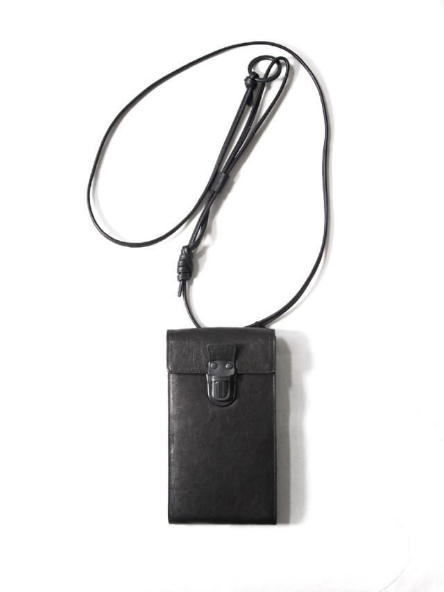 """PATRICK STEPHAN (パトリックステファン) """"Mobile pochette 'cartable'"""" 213ABG04 <サコッシュ  スマートフォンバッグ> - BLACK"""