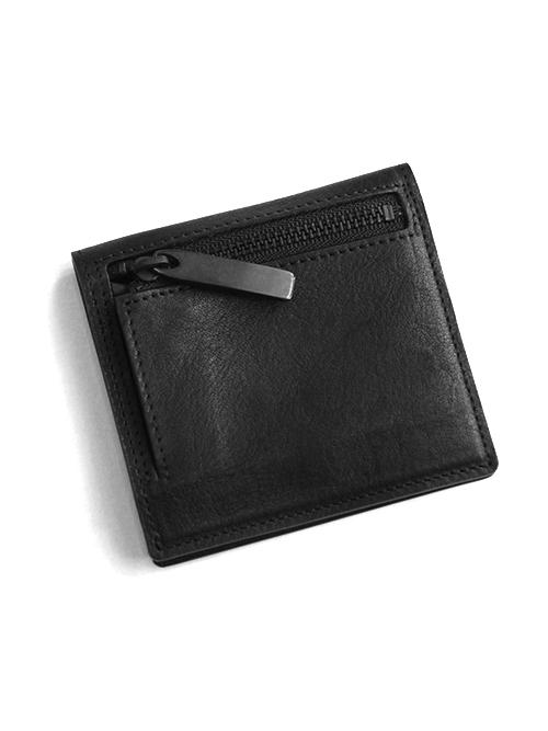 "PATRICK STEPHAN (パトリックステファン) ""Leather minimal wallet"" #182AWA06 <財布> - BLACK/BLACK"