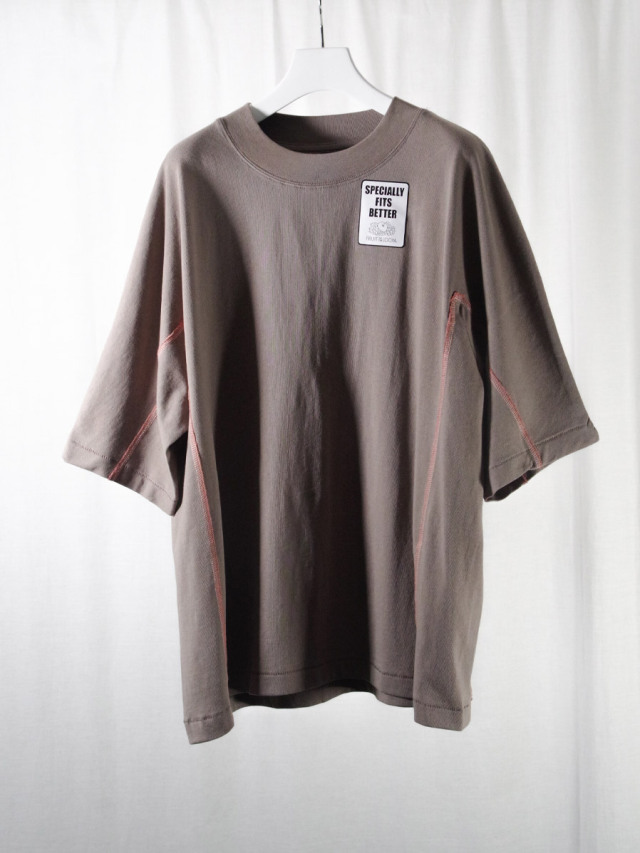 """【2021SS】 SHINYAKOZUKA (シンヤコヅカ) """"DOLMAN WITH FRUIT OF THE LOOM"""" <Tシャツ カットソー> - MID GRAY"""