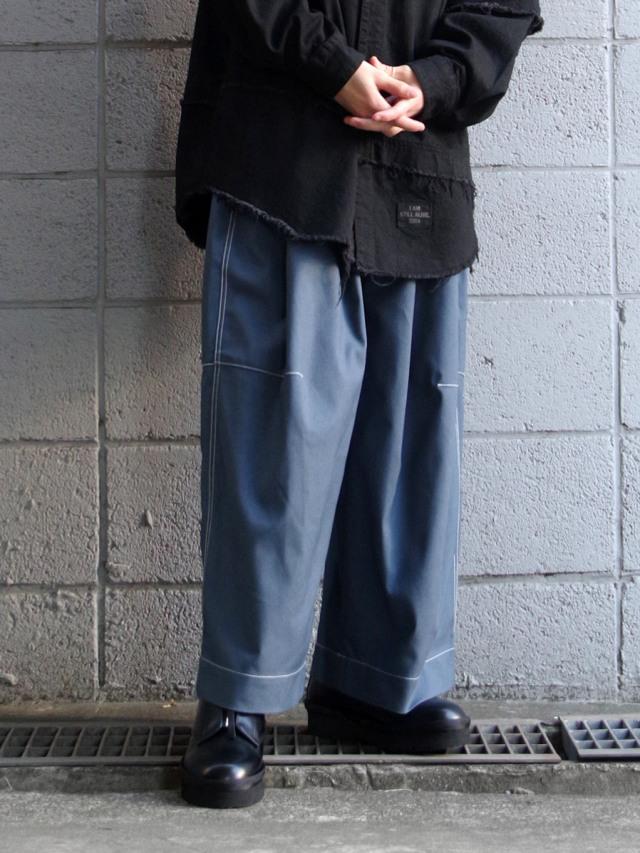 "【2021SS】 SHINYAKOZUKA (シンヤコヅカ) ""BAGGY WITH FARAH"" <パンツ> - BLUE"