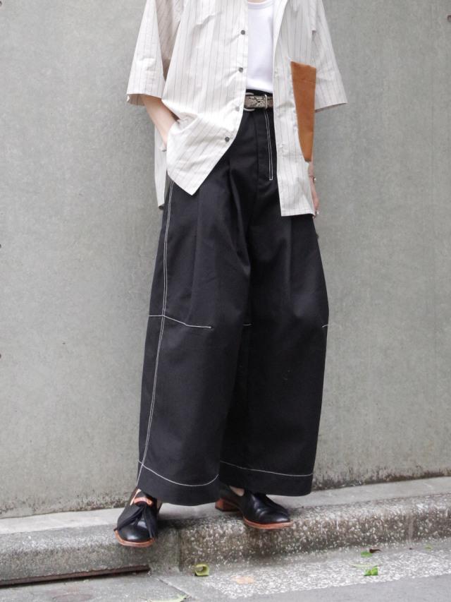 "【2021SS】 SHINYAKOZUKA (シンヤコヅカ) ""BAGGY WITH FARAH"" <パンツ> - BLACK"