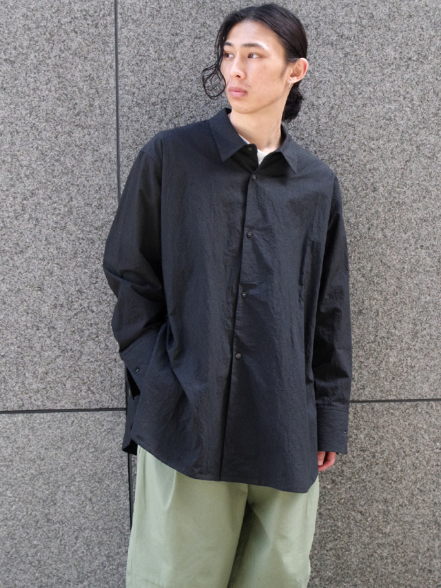 "【2021SS】 SHINYAKOZUKA (シンヤコヅカ) ""CLASSIC SHIRT"" <シャツ> - BLACK"