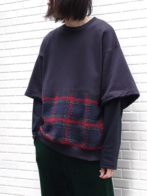 """【18AW】 SOE (ソーイ)  """"Layered Sweat Shirt"""" <レイヤードスウェット>"""