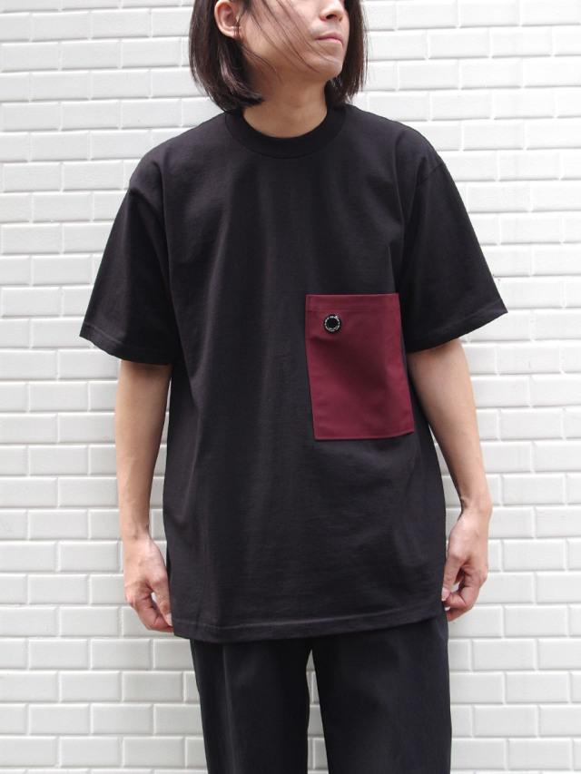 """【20SS】 soe (ソーイ)  """"H/S Tee with Pocket"""" <Tシャツ/カットソー> - BLACK"""
