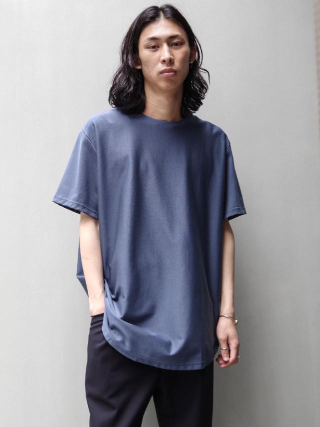 "【21SS】 soe (ソーイ)  ""ROUND HEM TALL T"" <Tシャツ/カットソー> - SMOKY BLUE"