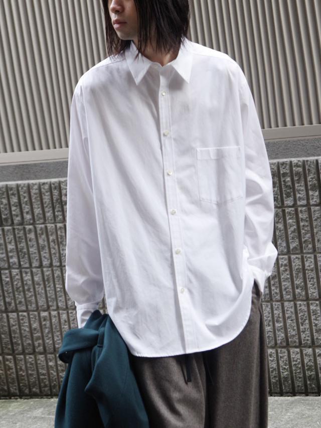 "【20AW】 UJOH (ウジョー)  ""Full Open Shirts"" <シャツ> - WHITE"