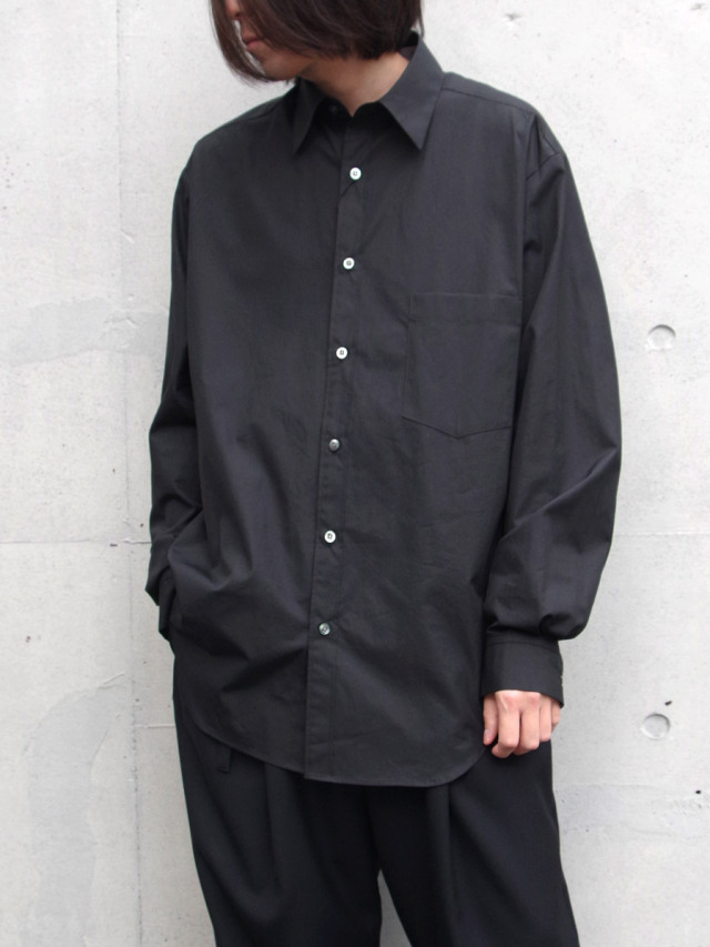 """UJOH (ウジョー)  """"Full Open Shirts"""" <シャツ> - BLACK"""