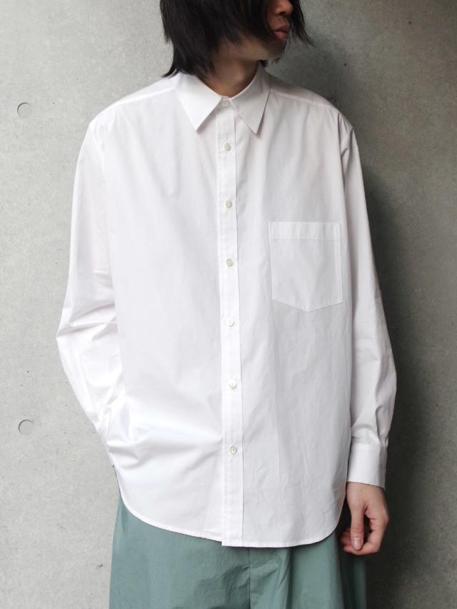"""【20SS】 UJOH (ウジョー)  """"Full Open Shirts"""" <シャツ> - WHITE"""