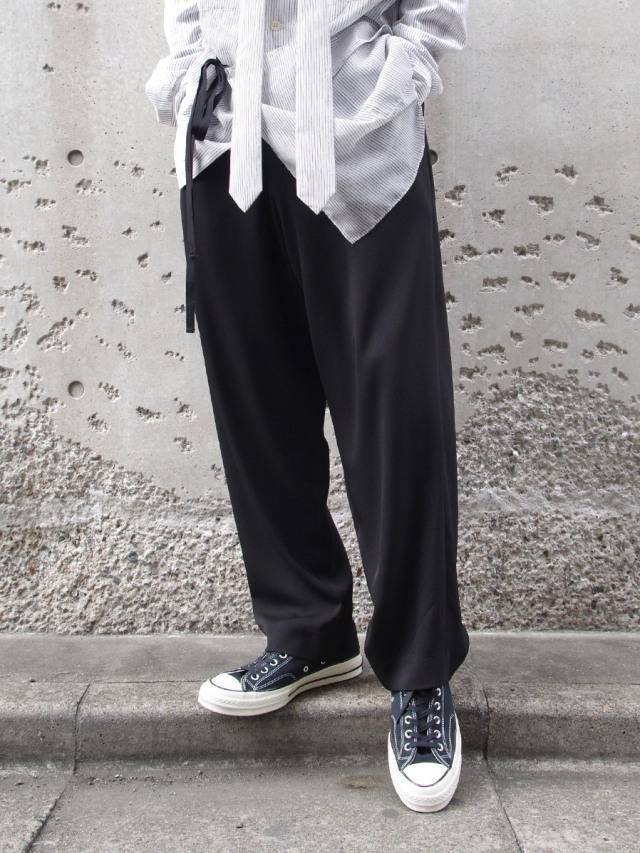 """【21SS】 UJOH (ウジョー) """"Big Silhouette PNT"""" <ワイドパンツ> - BLACK"""