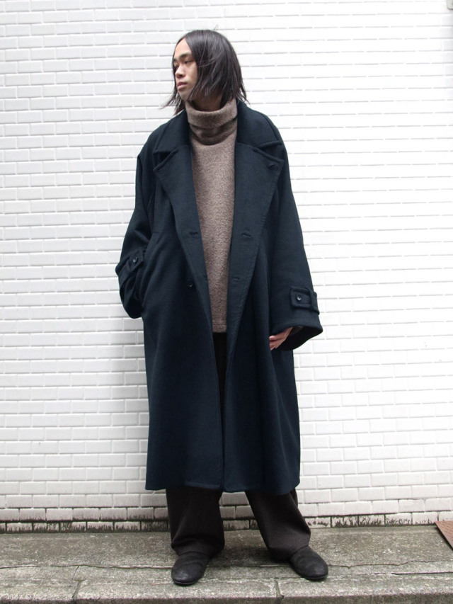 """""""LIMITED COLOR"""" DARK GREEN 【20AW】 VOAAOV (ヴォアーブ)  """"SOFT WOOL BEAVER LONG COAT"""" <ロングコート>"""