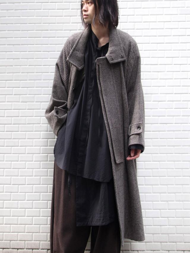 "【20AW】 VOAAOV (ヴォアーブ)  ""tumbler tweed long coat"" <ロングコート>"