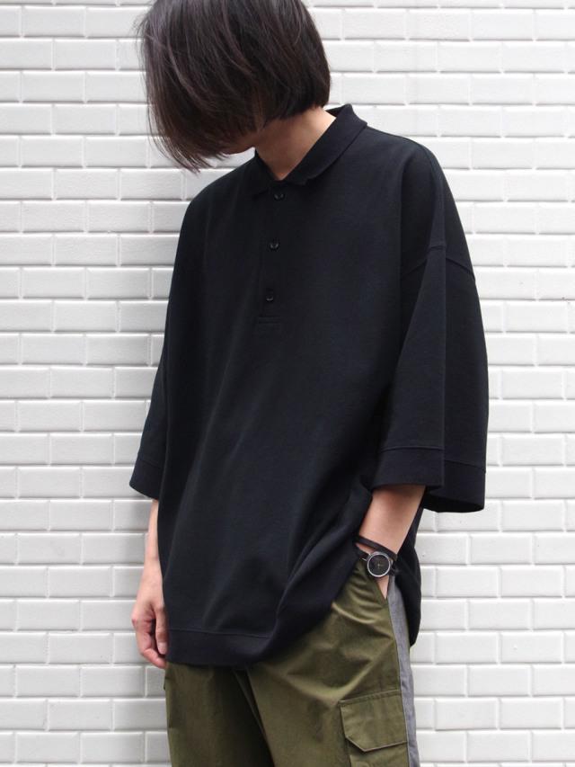 "【20SS】 VOAAOV (ヴォアーブ)  ""seed stitch polo"" <ポロシャツ>"
