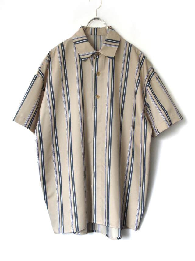 "【20SS】 VOAAOV (ヴォアーブ)  ""stripe S/S shirt"" <シャツ> - BEIGE"