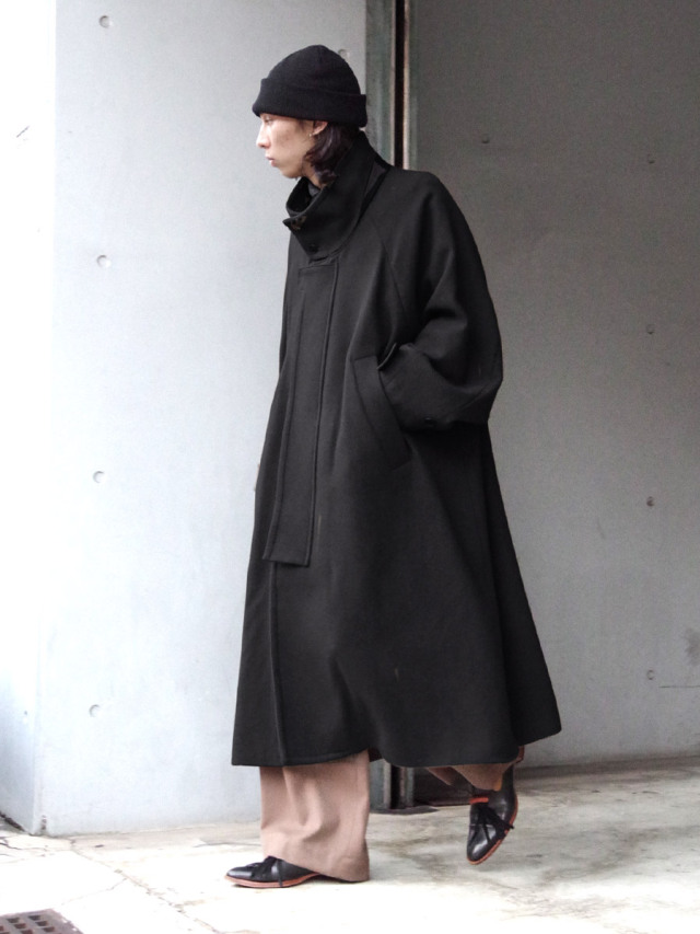 "【PRE-ORDER】 VOAAOV ""YABURE OIL CUT WOOL STAND COAT"" - BLACK"