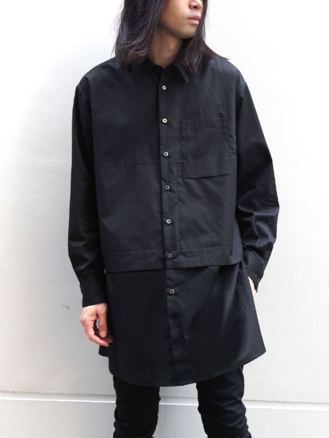 """【2019AW】 wizzard (ウィザード)  """"LONG LAYERED SHIRTS"""" <ロングシャツ>"""