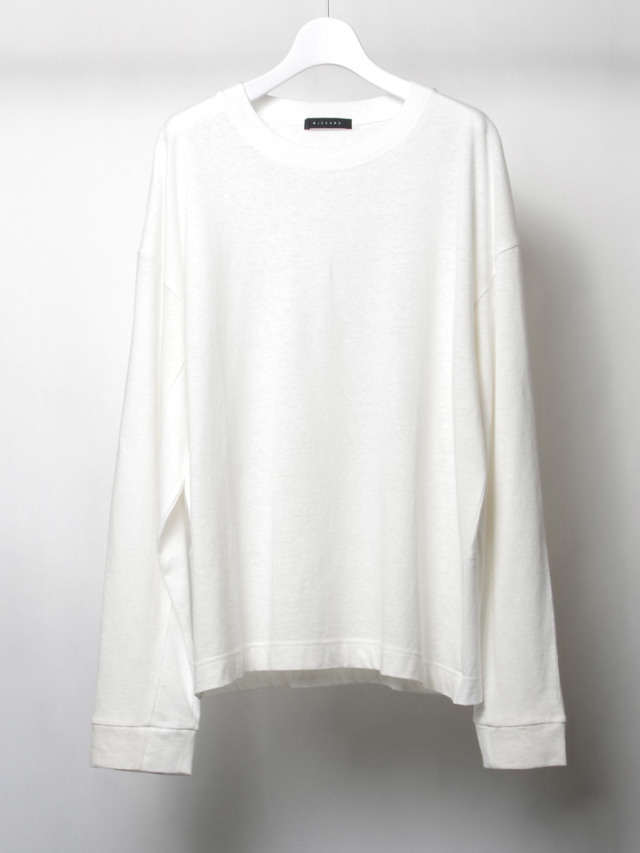 """【2020SS】 wizzard (ウィザード)  """"PANEL LONG SLEEVE T-SHIRT"""" <カットソー> - OFF WHITE"""
