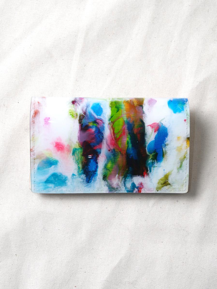 "macromauro (マクロマウロ) // ""PAINT CARD CASE"" <カードケース> - WHITE-""B"""