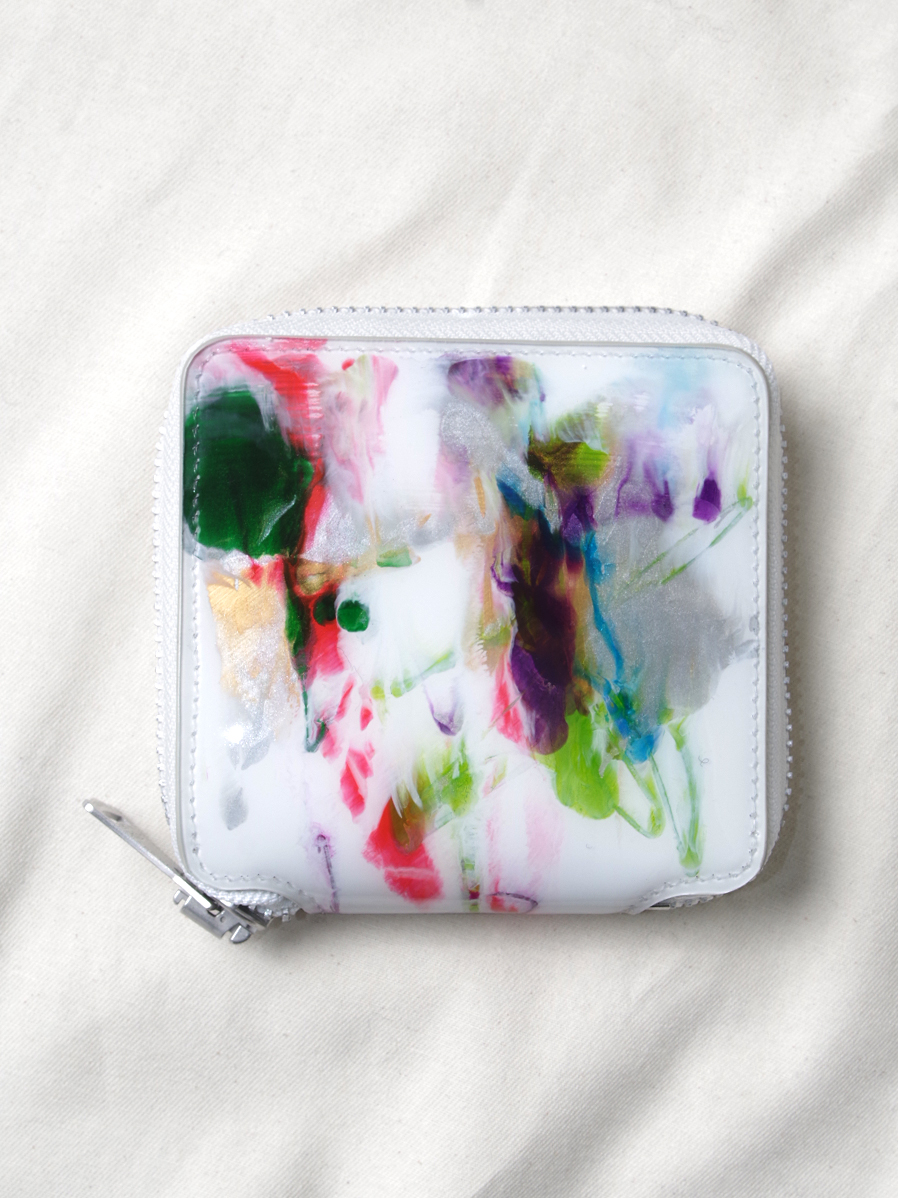 "macromauro (マクロマウロ) // ""PAINT WALLET"" <2つ折り財布> - WHITE-""A"""