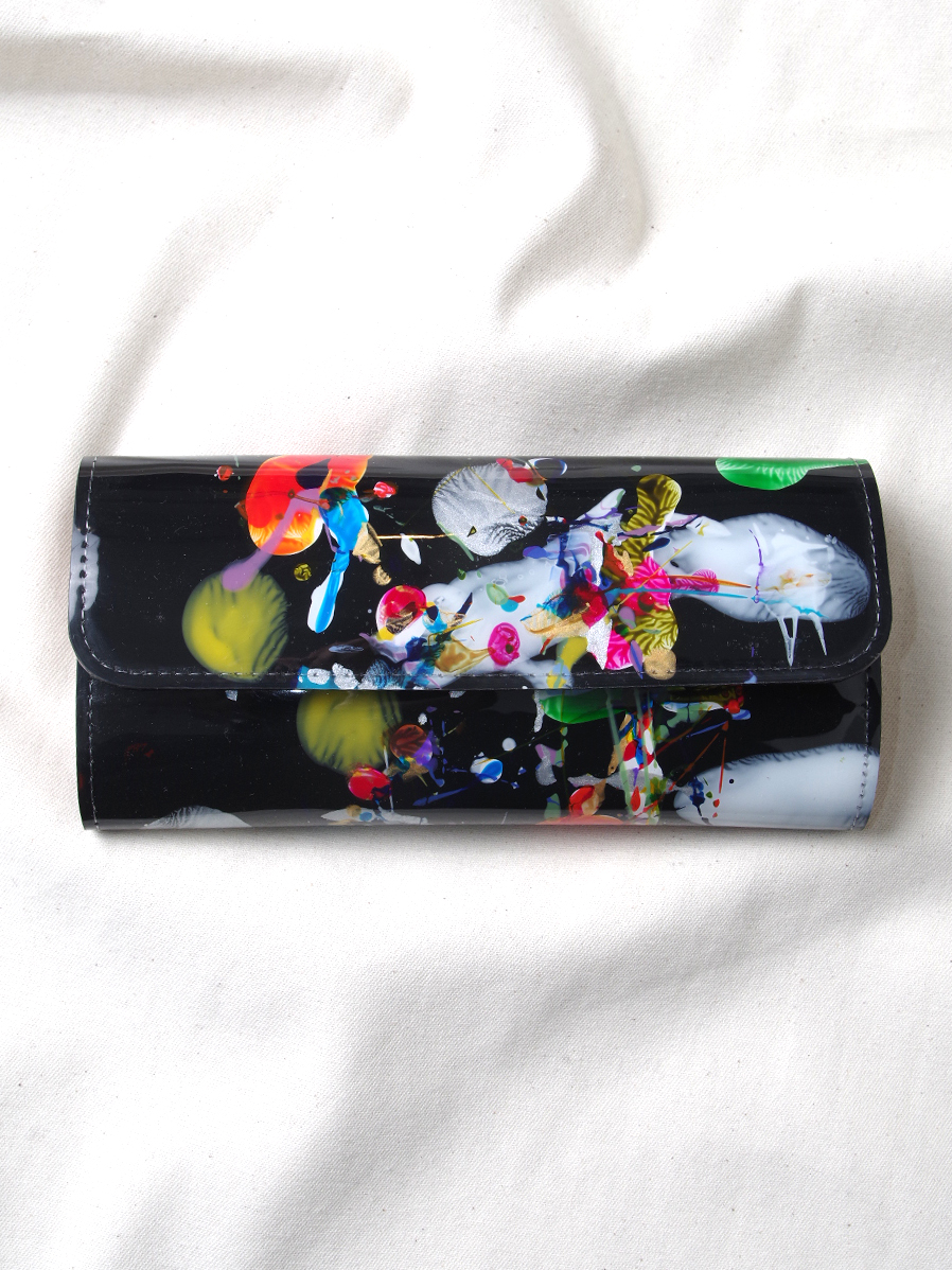 "macromauro (マクロマウロ) // ""PAINT WALLET LONG"" <長財布> - BLACK-""B"""