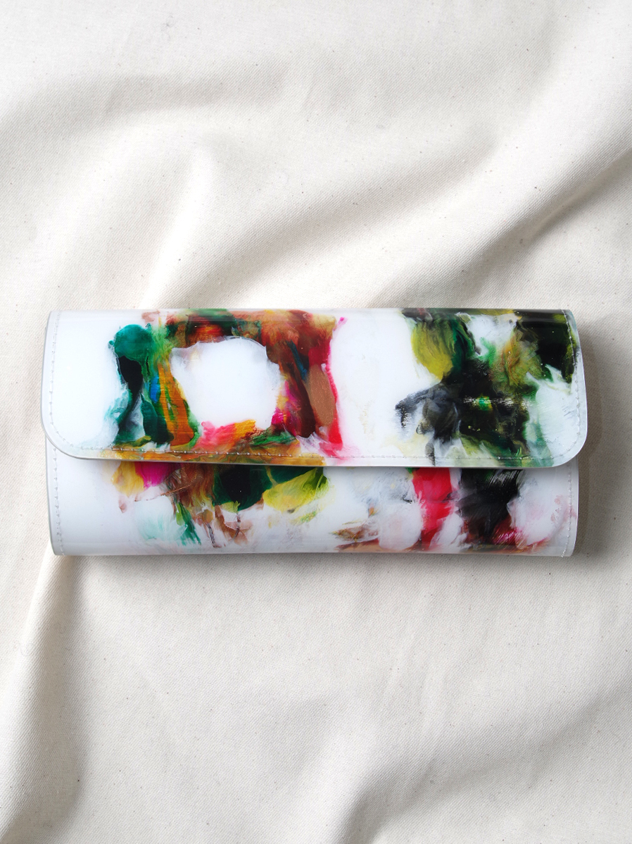 "macromauro (マクロマウロ) // ""PAINT WALLET LONG"" <長財布> - WHITE-""B"""