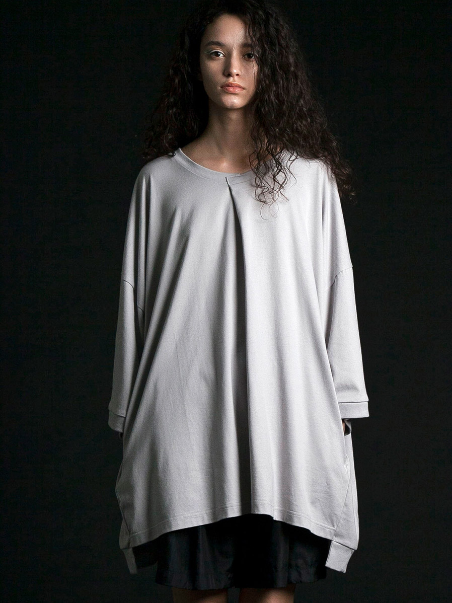 "【2020SS】 my beautiful landlet (マイビューティフルランドレット)  ""cotton BIG T-shirt"" <カットソー> - LT. GRAY"
