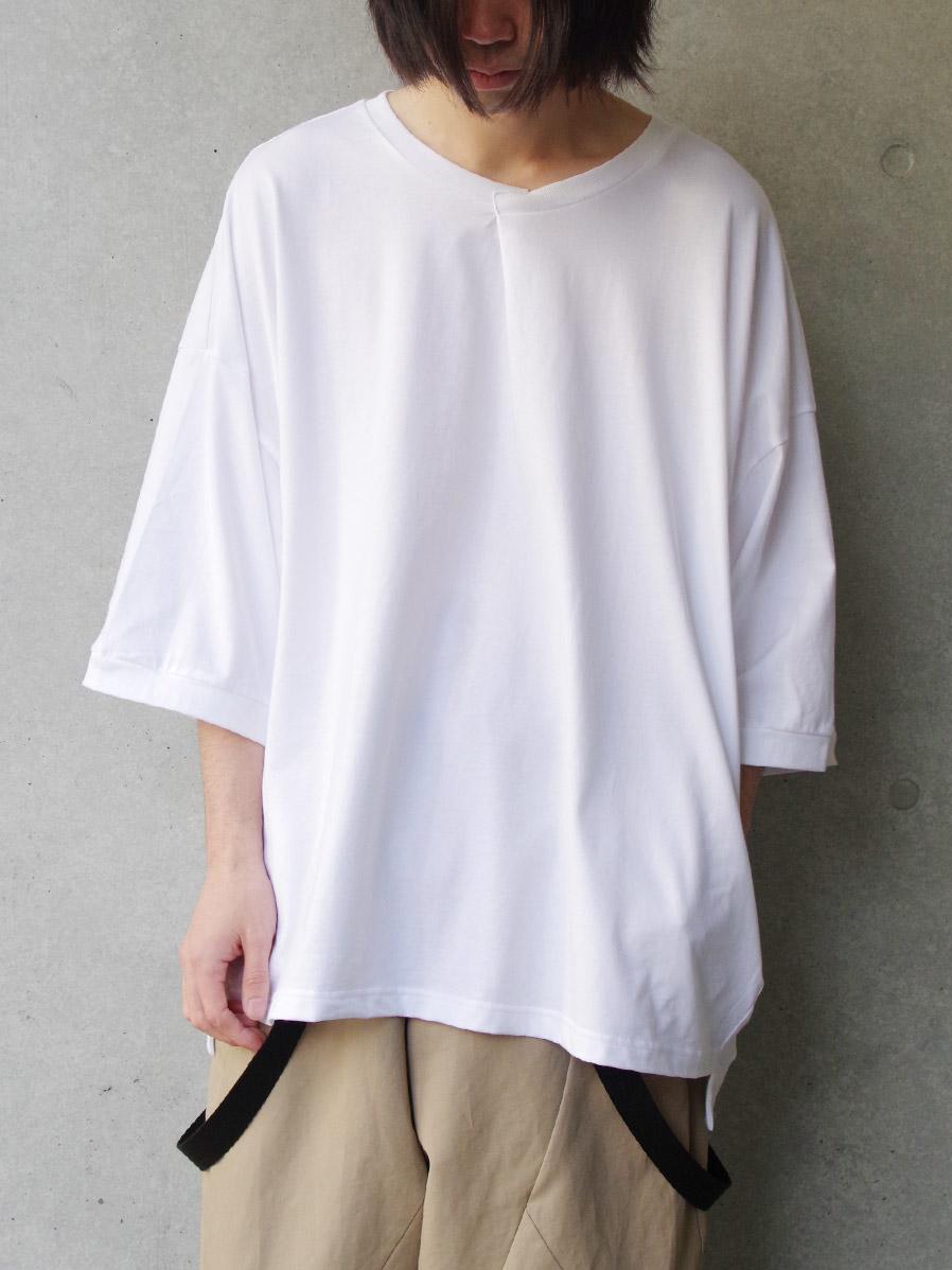 "【2020SS】 my beautiful landlet (マイビューティフルランドレット)  ""cotton BIG T-shirt"" <カットソー> - WHITE"