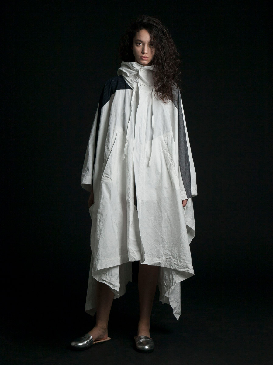 "【2020SS】 my beautiful landlet (マイビューティフルランドレット)  ""zip-up big poncho coat"" <コート>"