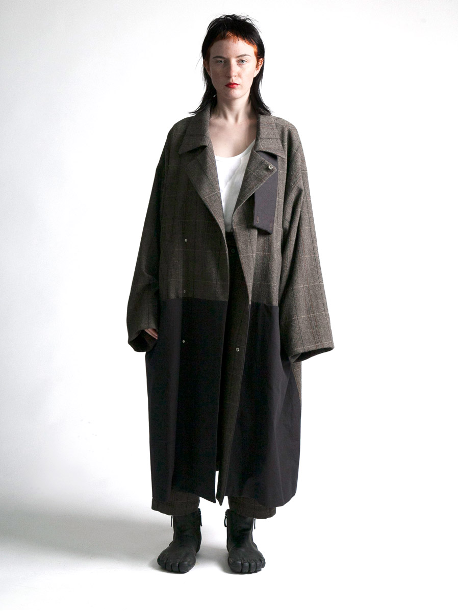 "LAST 1.【19AW】 my beautiful landlet (マイビューティフルランドレット)  ""herringbone wool long coat"" <ワイドロングコート>"