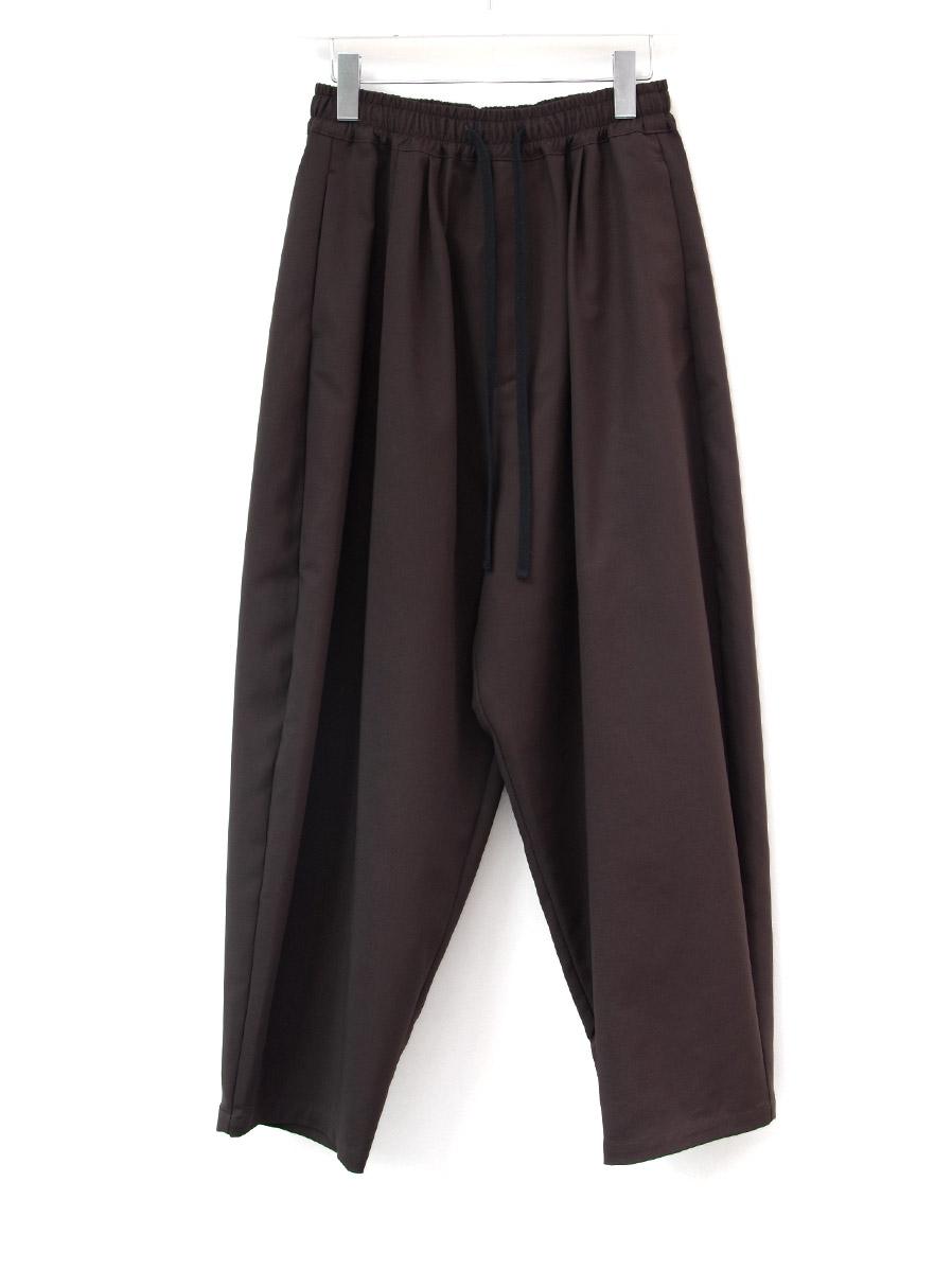 "【20AW】 my beautiful landlet (マイビューティフルランドレット)  ""DOUBLE CLOTH WIDE EASY PANTS"" <パンツ> - BROWN"