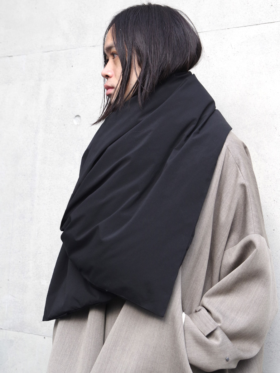 "【20AW】 my beautiful landlet (マイビューティフルランドレット)  ""TASLAN NYLON DOWN STOLE"" <ストール/マフラー>"