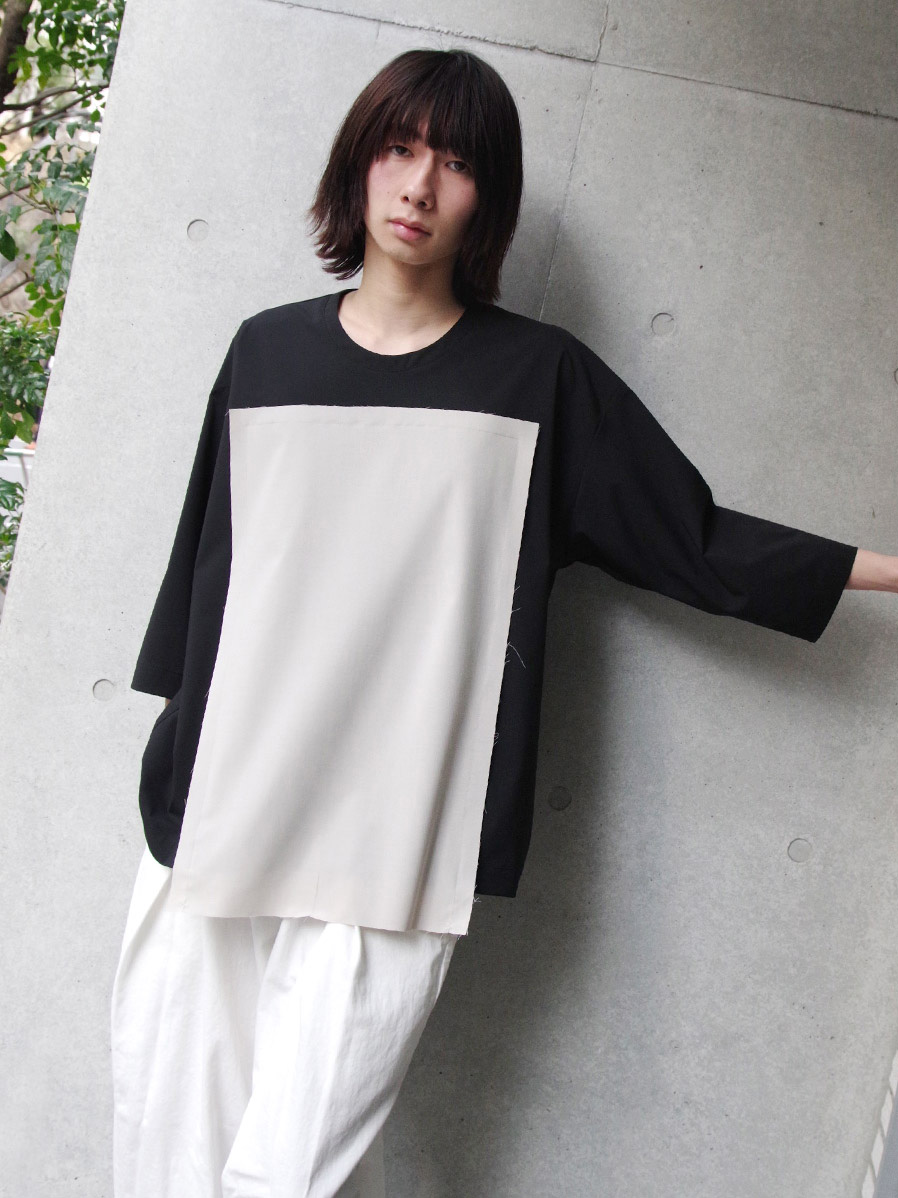 "【19SS】 my beautiful landlet (マイビューティフルランドレット)  ""3/4 sleeve Pullover shirts"" <プルオーバーシャツ> - BLACK"