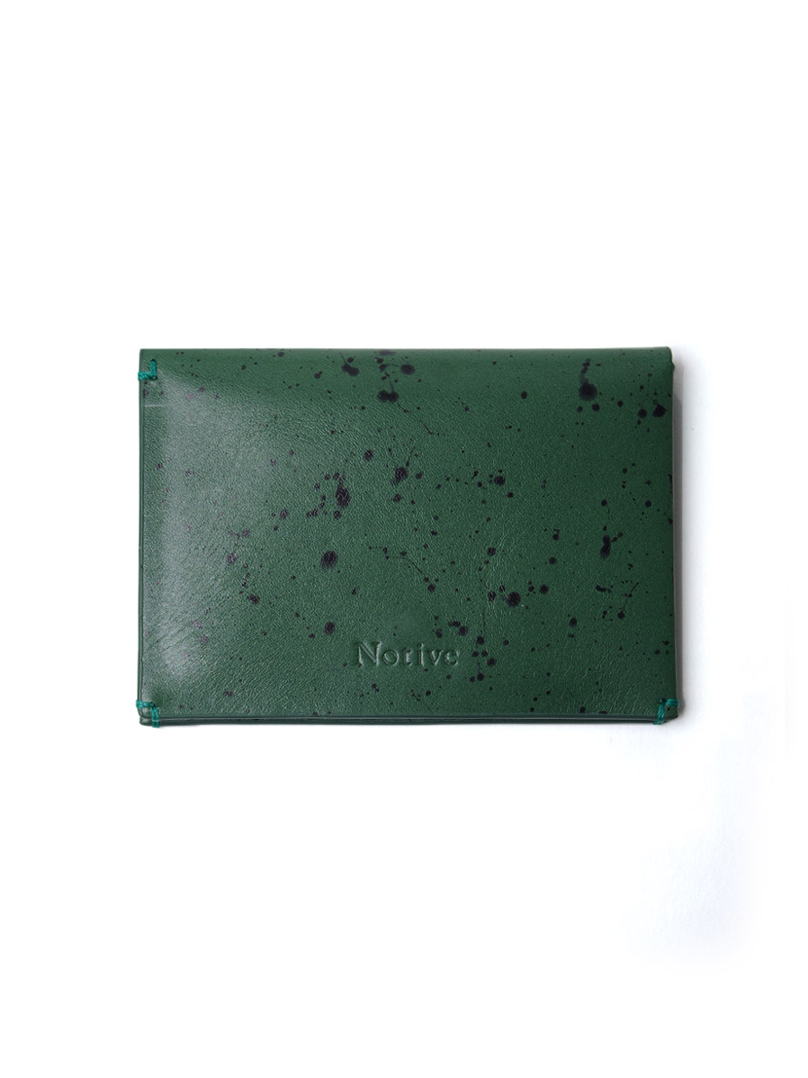 "Notive (ノーティヴ) // ""CARD CASE NJWF-04"" <レザーカードケース> - GREEN"