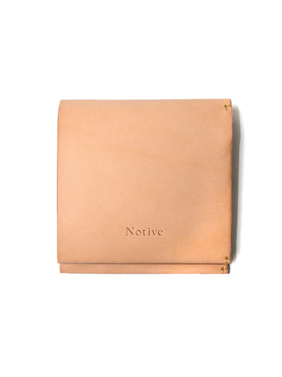 """Notive (ノーティヴ) // """"SHORT WALLET NJWF-08"""" <レザーウォレット 二つ折り財布> - NATURAL"""