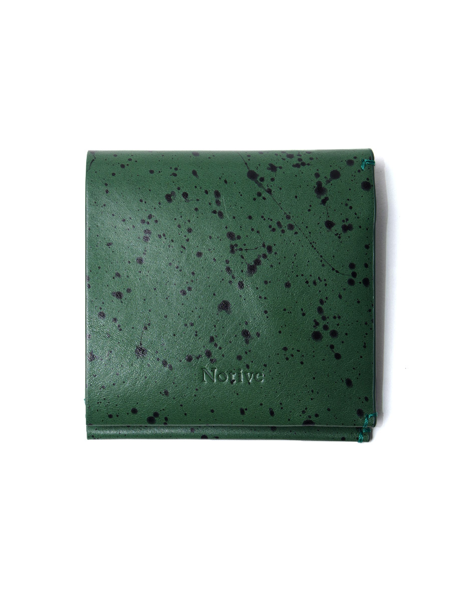 "Notive (ノーティヴ) // ""SHORT WALLET NJWF-08"" <レザーウォレット 二つ折り財布> - GREEN"