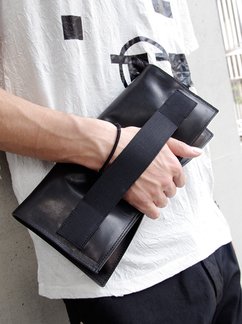 "PATRICK STEPHAN (パトリックステファン) ""Leather poche 'tape' - CLUTCH BAG"" #132ABG08  <レザークラッチバッグ>"