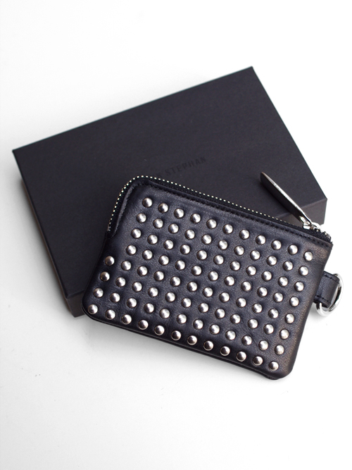 PATRICK STEPHAN (パトリックステファン) Leather coin case 'all-studs'- SILVER STUDS #106AWA08  <レザーコインケース>