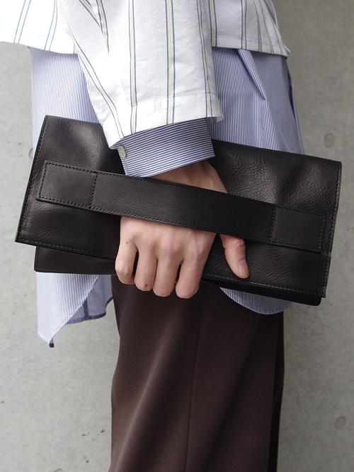 "PATRICK STEPHAN (パトリックステファン) ""Leather shoulder clutch bag 'tape'"" #182ABG05  <ショルダーバッグ/クラッチバッグ>"